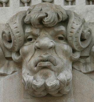 Supercilious satyr face