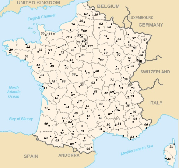 Départements Map