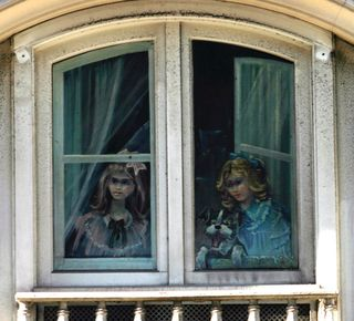 Girls at window 3