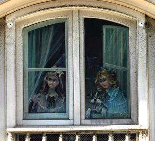 Girls at window 3