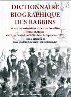 Dictionnaire biographique des rabbins cover