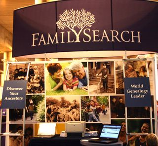 FamilySearch stand