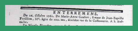 Gaubert enterrement