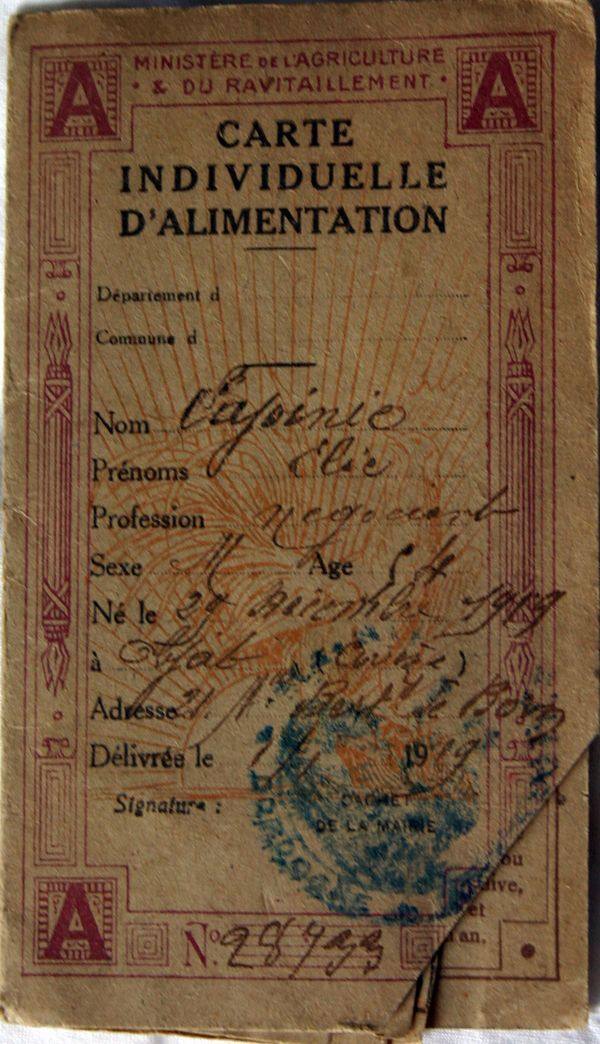 A French Family U0026 39 S Ration Cards And What They Reveal About
