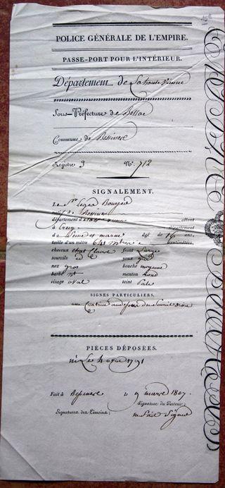 1807 Passeport