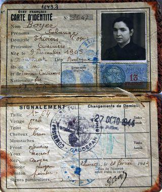 1943 Carte d'identité 3