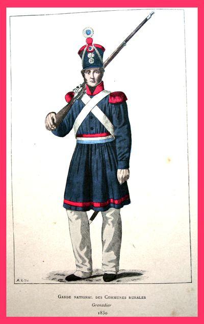 Garde Nat Ocmmunes rurales 1830