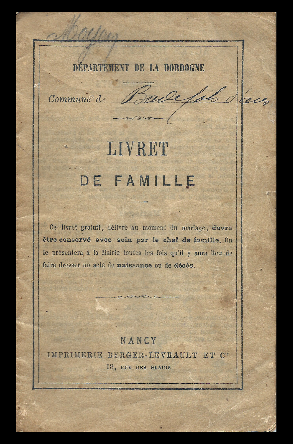 The Livret De Famille The French Genealogy Blog