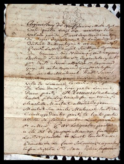 1791 Marriage Contract 2