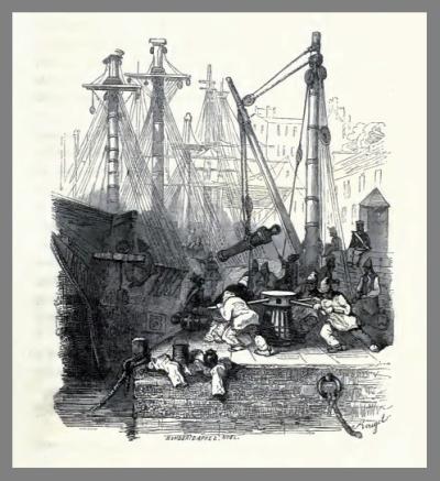 Bagnards at the capstan