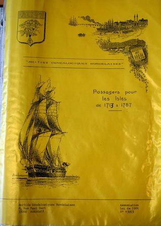 Passagers pour les Isles