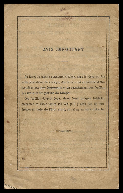 The Livret De Famille The French Genealogy Blog