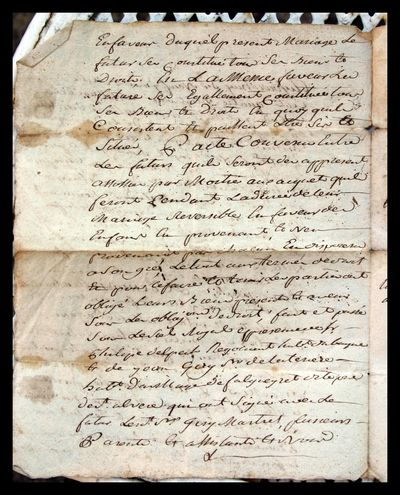 1791 Marriage Contract 3