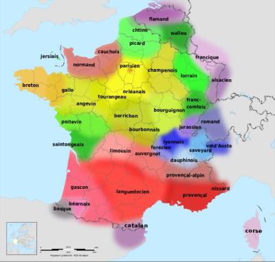Carte des langues