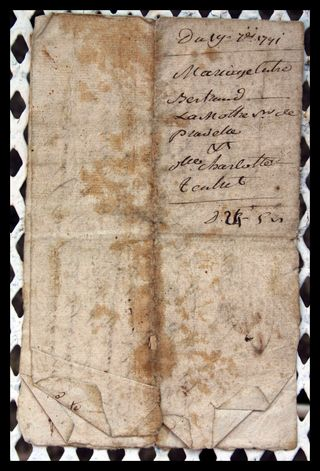 1791 Marriage Contract 1