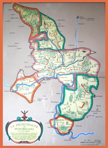Principality of Montbéliard map