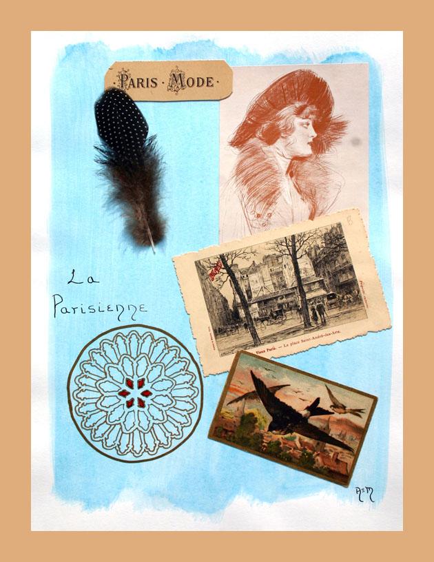 La Parisienne-Collage