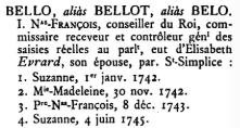 1741 Baptism