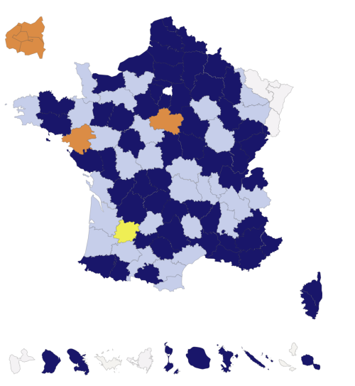 Map of registres matricules