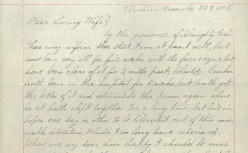 Peleg Bunker Letter