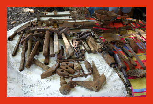 Antique French tools in Lalinde
