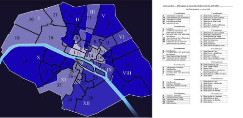 Paris parishes in 1802